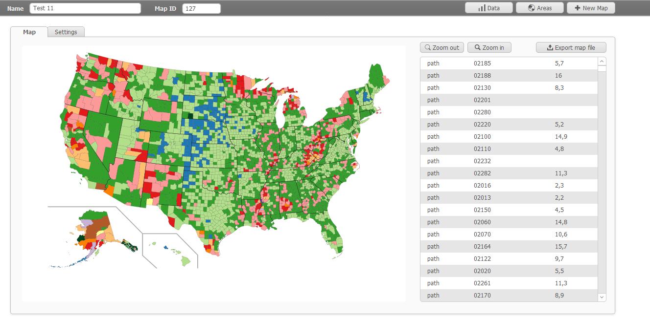 FileMaker Map Chart