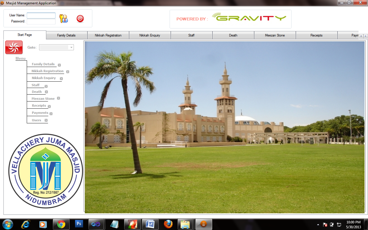 Masjid Management Application