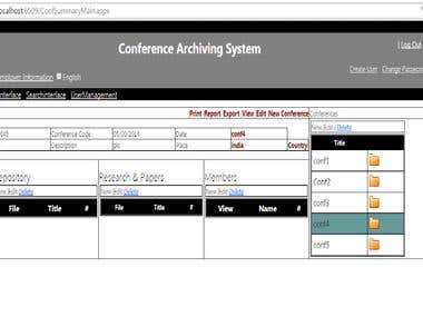 Conference Archiving System