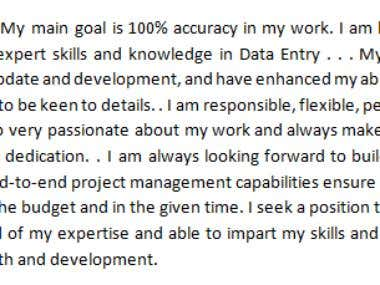 Data entry Worker