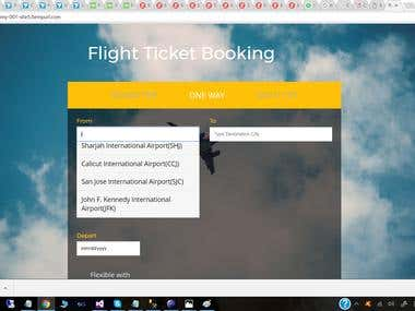 Flight Booking Portal Using Sabre API
