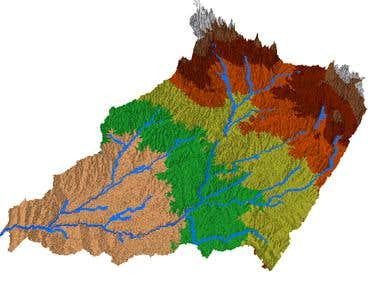 Hydrological and topological analysis