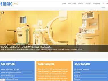 Website an Provider in Medicals Materials