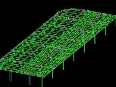 Roof Airport, north structure- Otopeni,Bucharest,Romania