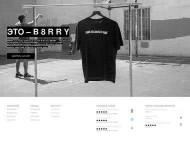 DESIGN AND CONSTRUCTION OF THE INTERNET SHOP - B 8 R R Y