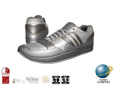 Sneaker | Maya, ZBrush, Photoshop + Quixel