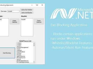 .NET Exe Blocking Application