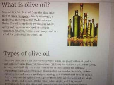 article on the health benefits of olive oil