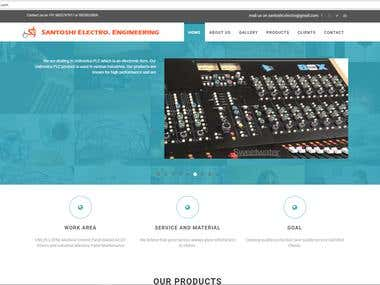 A website for engineering product manufacturing company