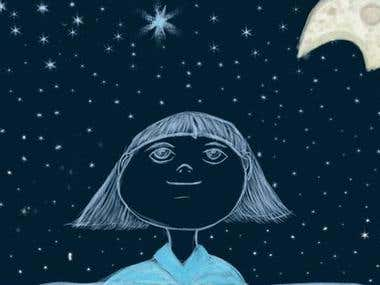 A menina e a lua