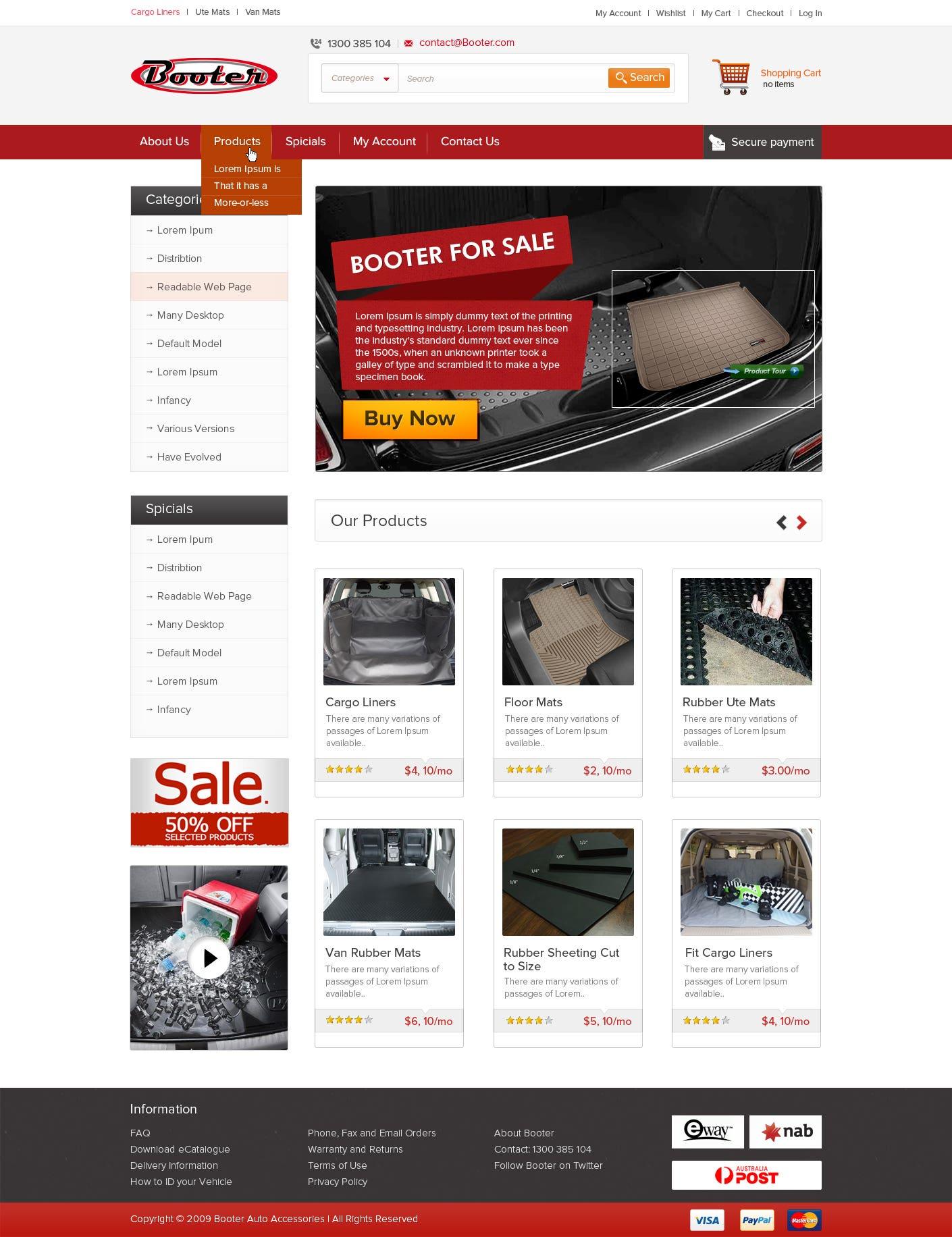 PSD Website Template Design