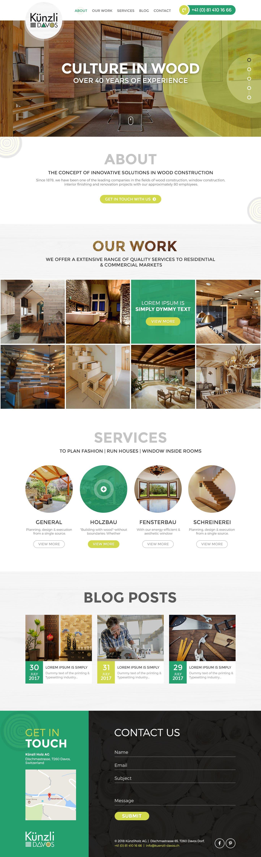 Kunzli Website Home Page Design