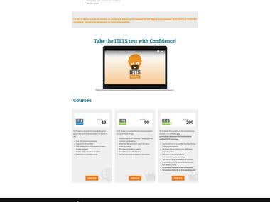 WordPress single page design