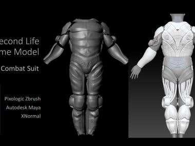 Combat suit 3D Model