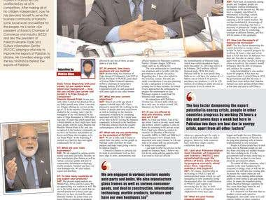 Interview - Shamim Ahmed Firpo, SVP at Karachi Chamber of CI