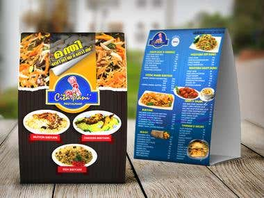 Menu Card Design_ Citapani