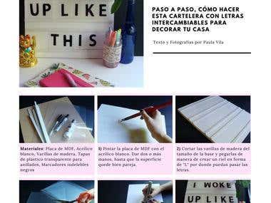 Content Writing: DIY