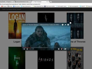 Movie Trailer Website