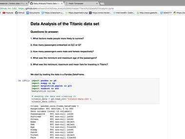 Analysing the Titanic Dataset
