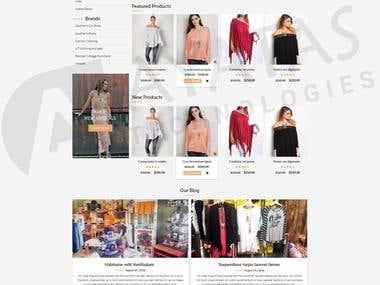 Woo Commerce website