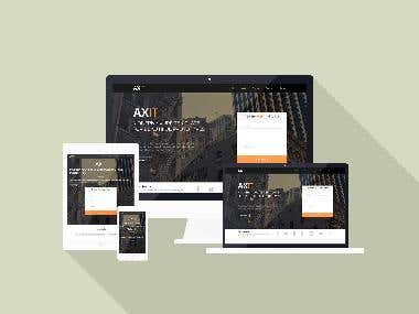 Web site design using the Fromework bootstrap and HTML5&CSS3