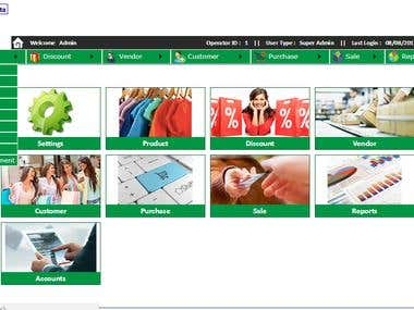 Portfolio for Customized Software of POS (Point of Sale)