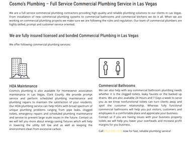 Cosmo's Plumbing - Satisfied customer from Las Vegas