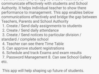 i-School Teacher Android App