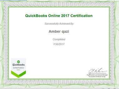 Quickbook Online 2017 ProAdvisor Certification.