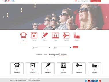 Ticket Booking website