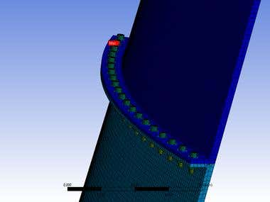 FEA analysis on Rocket bolted flange