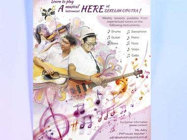 Poster for Music Program