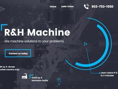 Website design for USA based company R&H Machine LLC