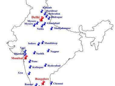 Map designed for a prospectus