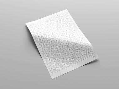 Geometrical Pattern Poster Design