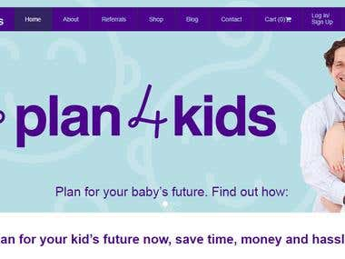 ASP.NET Based eCommerce Website :- Plan4kids