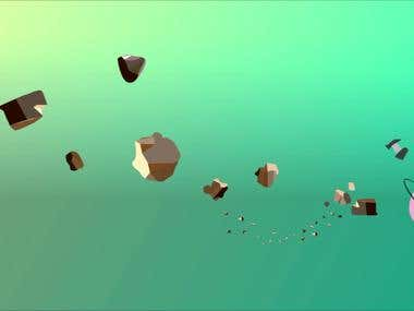 Animación corta, Modelo de sistema solar.
