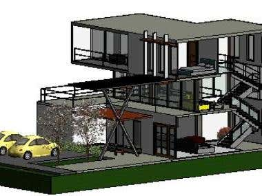 House design. 3D Revit / 2D Revit