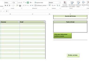 Correo Masivo Excel Macros (VBA)