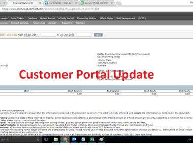 Customer Portal Update