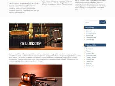 Advocate Website Development