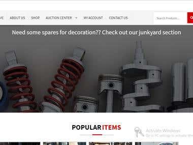Latest Auto Parts website