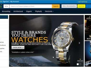 Kakadia website shopping system