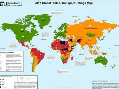 Global Risk and Transportation ratings Map