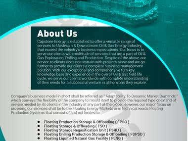 Monochromatic Brochure Design Sample
