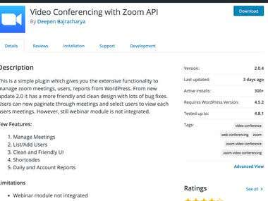 Video Conferencing with Zoom API