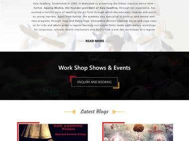 Aparna Mishara Website Design
