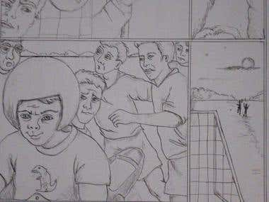Story board drawings