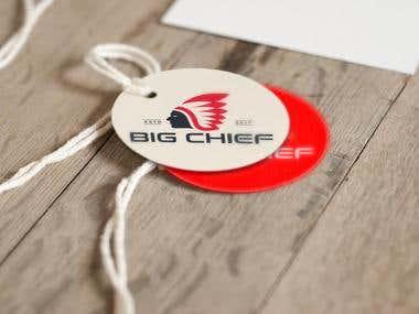 big cheif sticker design