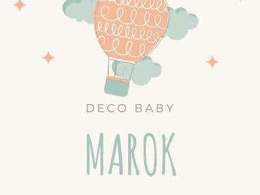 Diseño para empresa de deco de bebe.